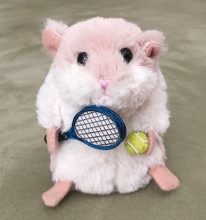 テニス仲間のマスコットMomokoちゃんを紹介します